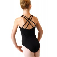 Black Chelsea Leotard, Cotton Lycra