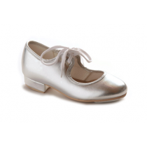 Katz-Silver-PU-Low-Heel-Tap-Shoes