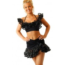Julia-Ladies-crop-top-Latin-dancewear-2