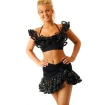 Julia-Ladies-crop-top-Latin-dancewear-2
