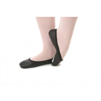 Classic-leather-full-sole-ballet-shoes-Black